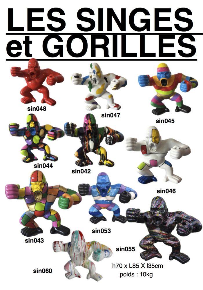 singes-gorilles-resine-1