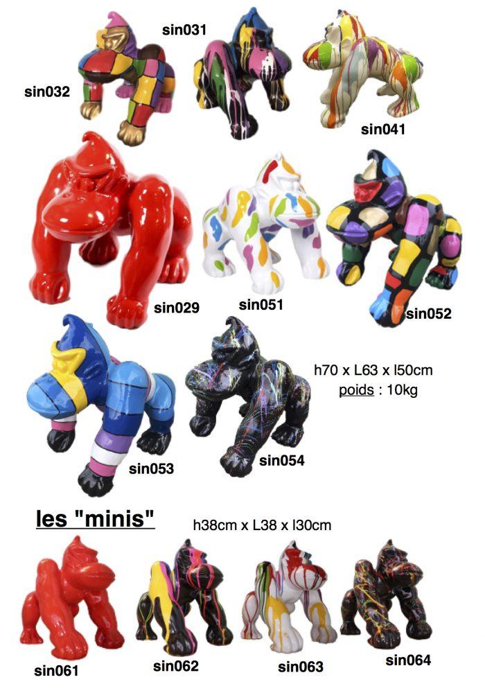 singes-gorilles-resine-2