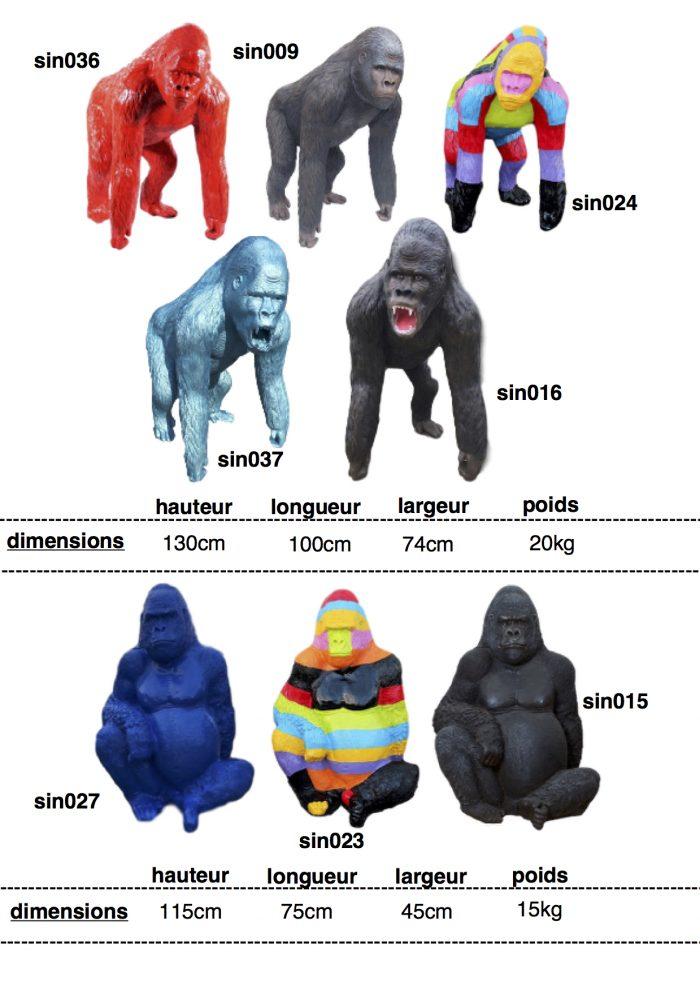 singes-gorilles-resine-3