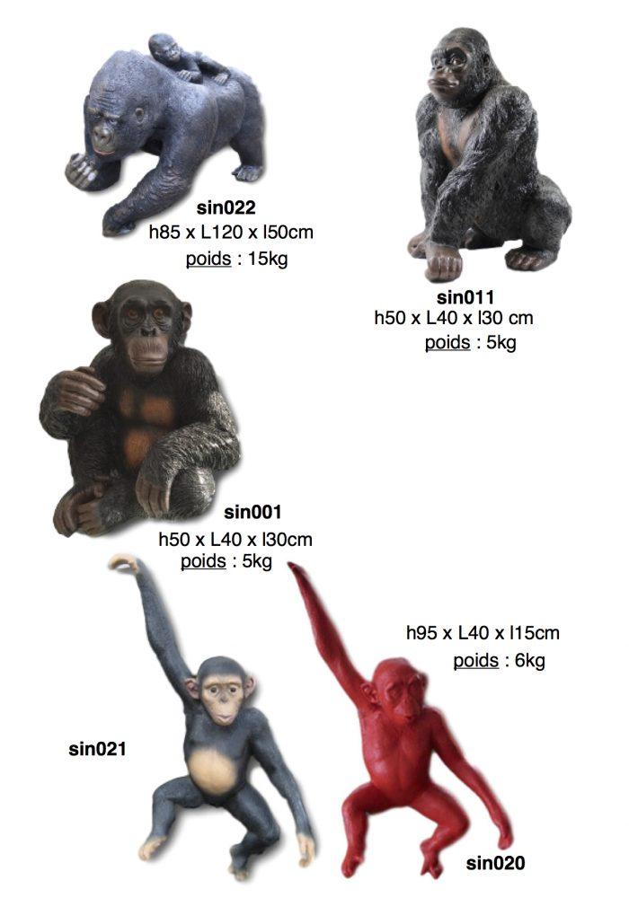 singes-gorilles-resine-4